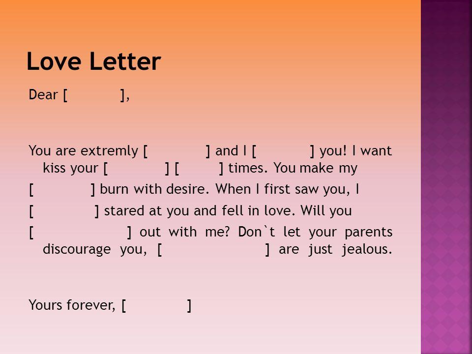 Love Letter Dear [ ],